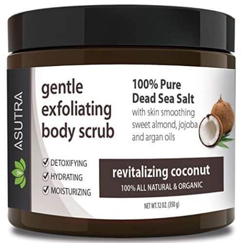 Asutra Organic exfoliating body scrub.